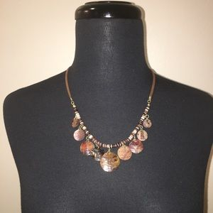 Jewelry - Leather And Shell Jewelry Set
